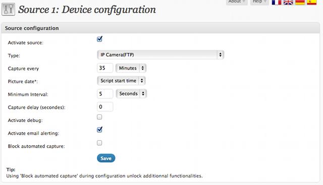 Source configuration