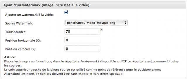 Insérer un Watermark à la vidéo