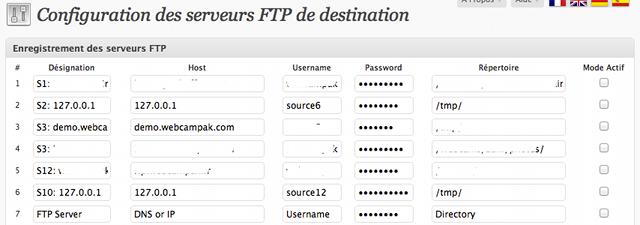 Configuration des serveurs FTP