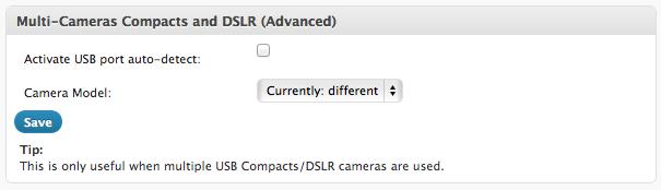Multi-cameras configuration