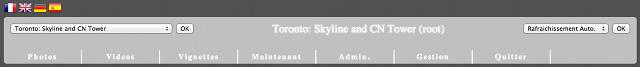 Présentation de l'interface visiteur